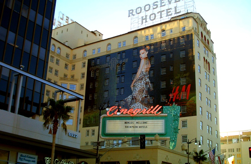 Roosevelt Hotel Hollywood with Cavalli